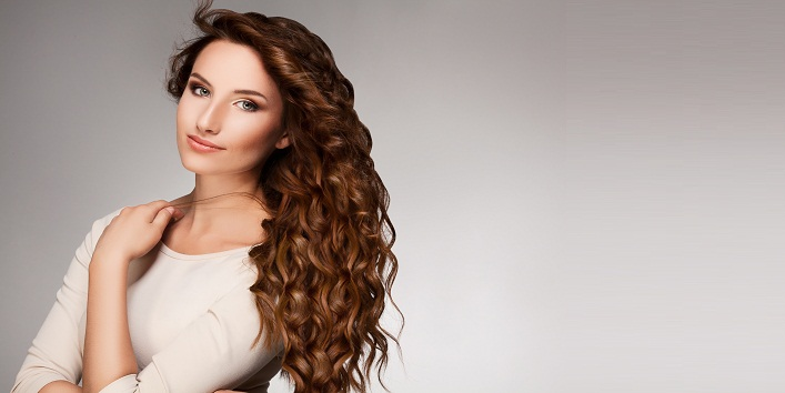 Curly Long Hair. High quality image.