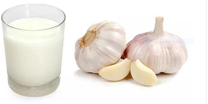 Eat milk and garlic